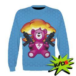 Детский 3D реглан Fortnite pink bear - FatLine