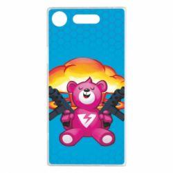 Чехол для Sony Xperia XZ1 Fortnite pink bear - FatLine