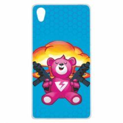 Чехол для Sony Xperia Z1 Fortnite pink bear - FatLine