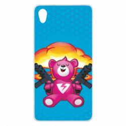 Чехол для Sony Xperia Z2 Fortnite pink bear - FatLine