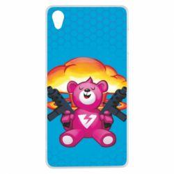 Чехол для Sony Xperia Z3 Fortnite pink bear - FatLine