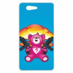 Чехол для Sony Xperia Z3 mini Fortnite pink bear - FatLine