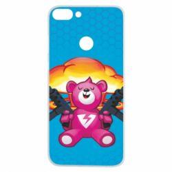 Чехол для Huawei P Smart Fortnite pink bear - FatLine