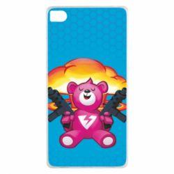 Чехол для Huawei P8 Fortnite pink bear - FatLine
