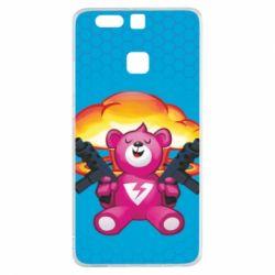 Чехол для Huawei P9 Fortnite pink bear - FatLine