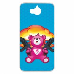 Чехол для Huawei Y5 2017 Fortnite pink bear - FatLine