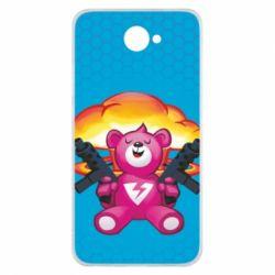 Чехол для Huawei Y7 2017 Fortnite pink bear - FatLine