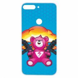 Чехол для Huawei Y7 Prime 2018 Fortnite pink bear - FatLine