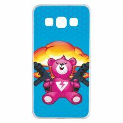 Чехол для Samsung A3 2015 Fortnite pink bear - FatLine