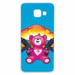 Чехол для Samsung A3 2016 Fortnite pink bear - FatLine