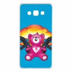 Чехол для Samsung A7 2015 Fortnite pink bear - FatLine