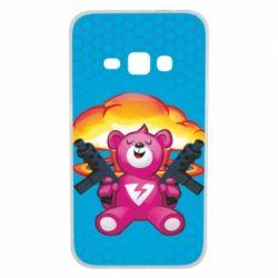Чехол для Samsung J1 2016 Fortnite pink bear - FatLine