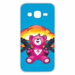 Чехол для Samsung J2 2015 Fortnite pink bear - FatLine