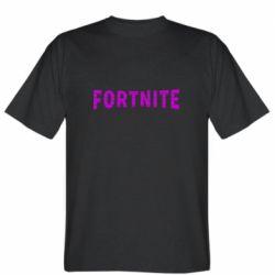Чоловіча футболка Fortnite purple logo text