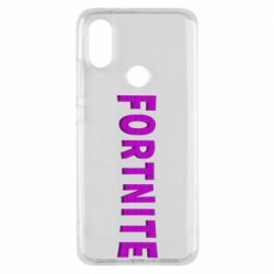 Чехол для Xiaomi Mi A2 Fortnite purple logo text