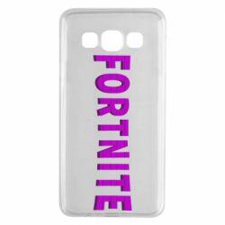 Чохол для Samsung A3 2015 Fortnite purple logo text