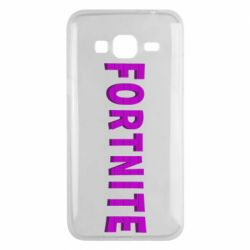 Чехол для Samsung J3 2016 Fortnite purple logo text