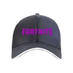 Кепка Fortnite purple logo text