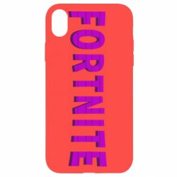 Чохол для iPhone XR Fortnite purple logo text