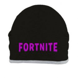 Шапка Fortnite purple logo text
