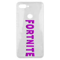 Чехол для Xiaomi Mi8 Lite Fortnite purple logo text