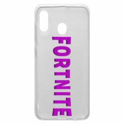 Чохол для Samsung A20 Fortnite purple logo text