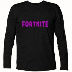 Футболка з довгим рукавом Fortnite purple logo text