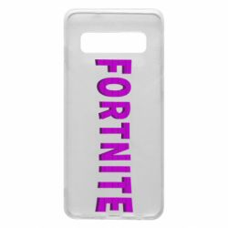 Чехол для Samsung S10 Fortnite purple logo text