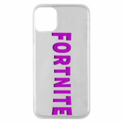 Чехол для iPhone 11 Pro Fortnite purple logo text