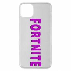 Чохол для iPhone 11 Pro Max Fortnite purple logo text