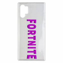 Чехол для Samsung Note 10 Plus Fortnite purple logo text