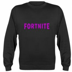 Реглан (свитшот) Fortnite purple logo text