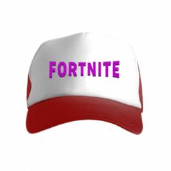 Дитяча кепка-тракер Fortnite purple logo text