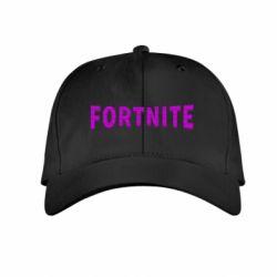 Дитяча кепка Fortnite purple logo text