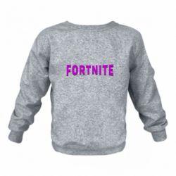 Дитячий реглан (світшот) Fortnite purple logo text