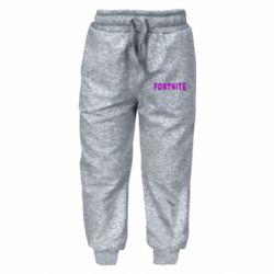 Дитячі штани Fortnite purple logo text