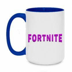 Кружка двоколірна 420ml Fortnite purple logo text