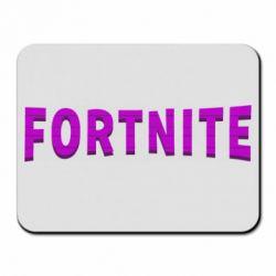 Килимок для миші Fortnite purple logo text