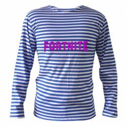 Тільник з довгим рукавом Fortnite purple logo text