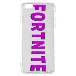 Чохол для iPhone 6 Plus/6S Plus Fortnite purple logo text