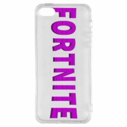 Чехол для iPhone5/5S/SE Fortnite purple logo text