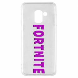 Чохол для Samsung A8 2018 Fortnite purple logo text