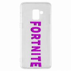 Чохол для Samsung A8+ 2018 Fortnite purple logo text