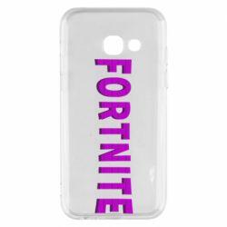 Чохол для Samsung A3 2017 Fortnite purple logo text
