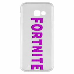 Чехол для Samsung A5 2017 Fortnite purple logo text