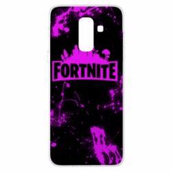 Купить Masha, Чехол для Samsung A6+ 2018 Fortnite purple logo, FatLine