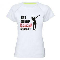 Жіноча спортивна футболка Fortnite repeat dab