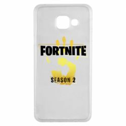 Чехол для Samsung A3 2016 Fortnite season 2 gold