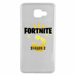 Чехол для Samsung A7 2016 Fortnite season 2 gold