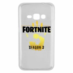 Чехол для Samsung J1 2016 Fortnite season 2 gold